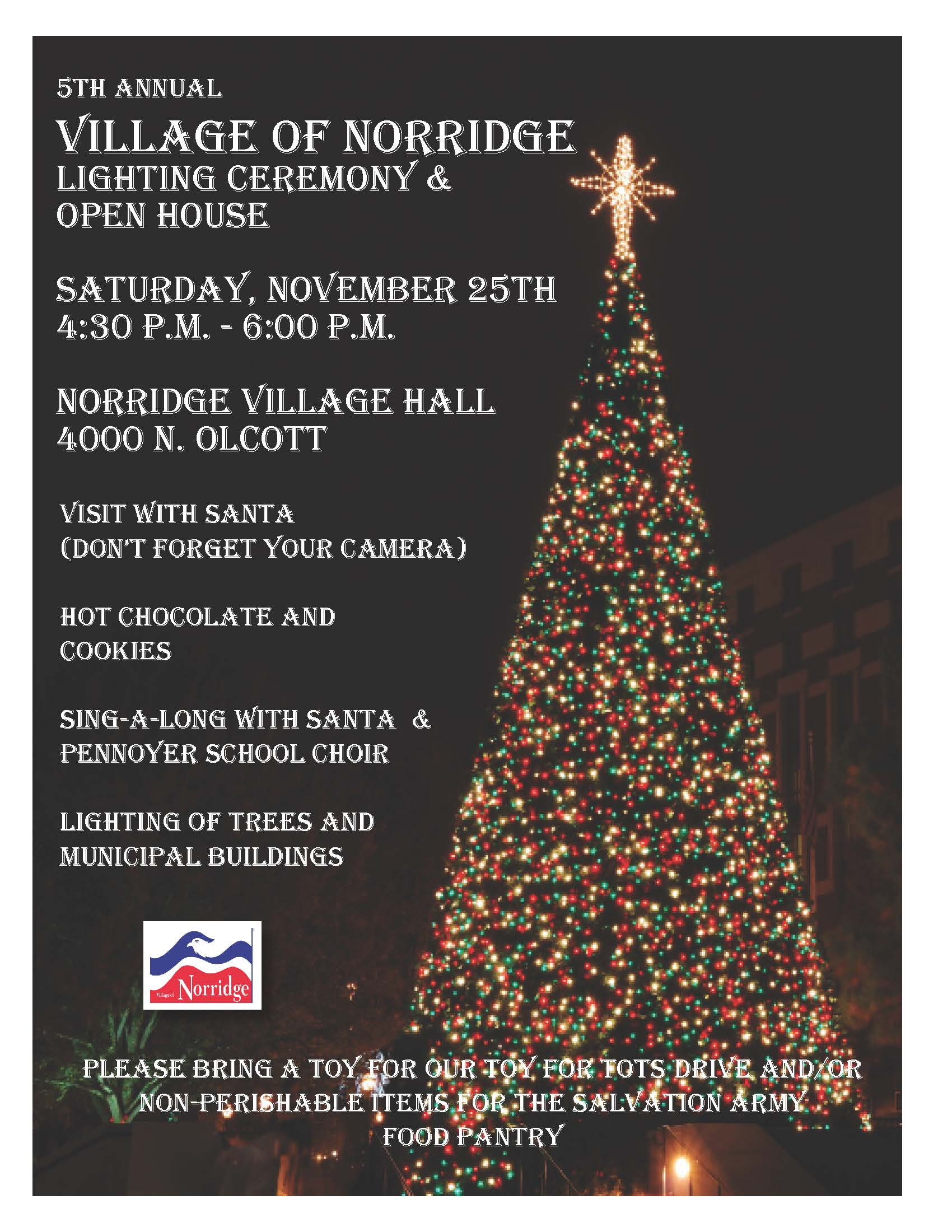 2017 Tree Lighting Flyer