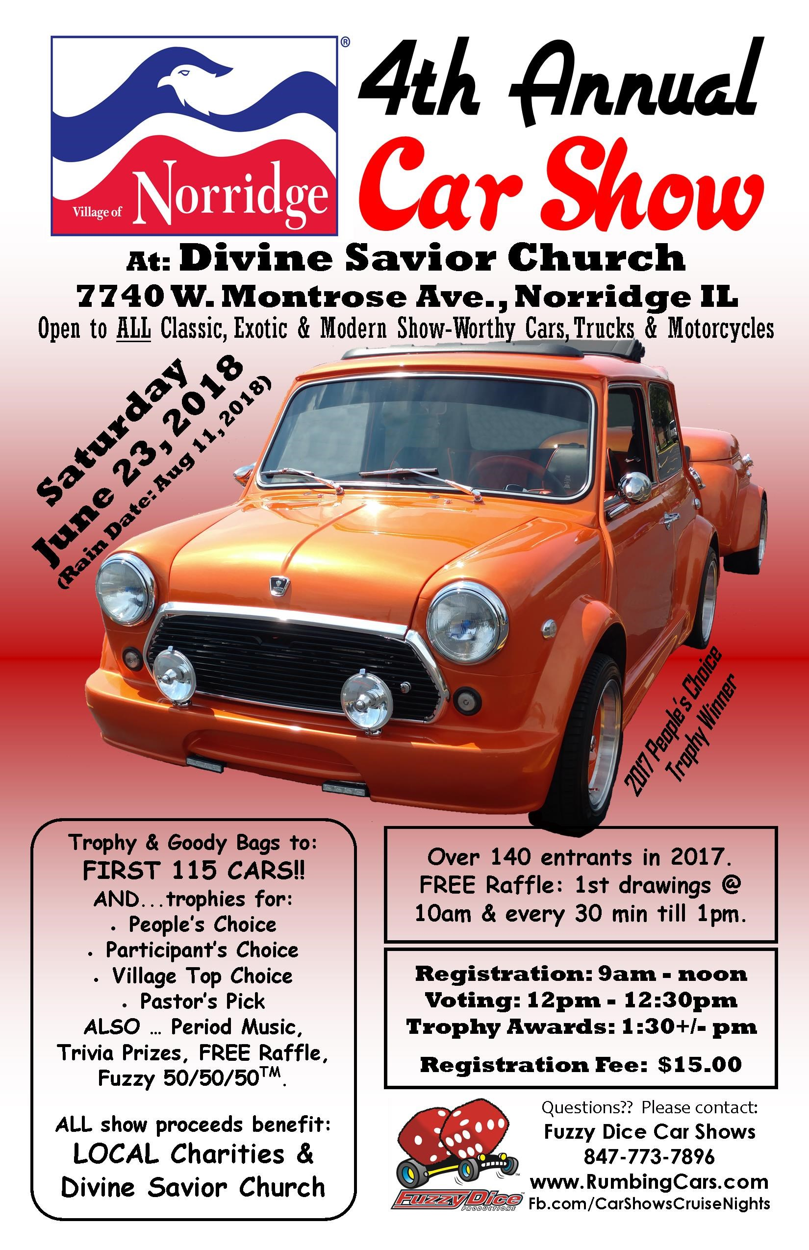 Th Annual Car Show Calendar Month View Village Of Norridge - Car show calendar