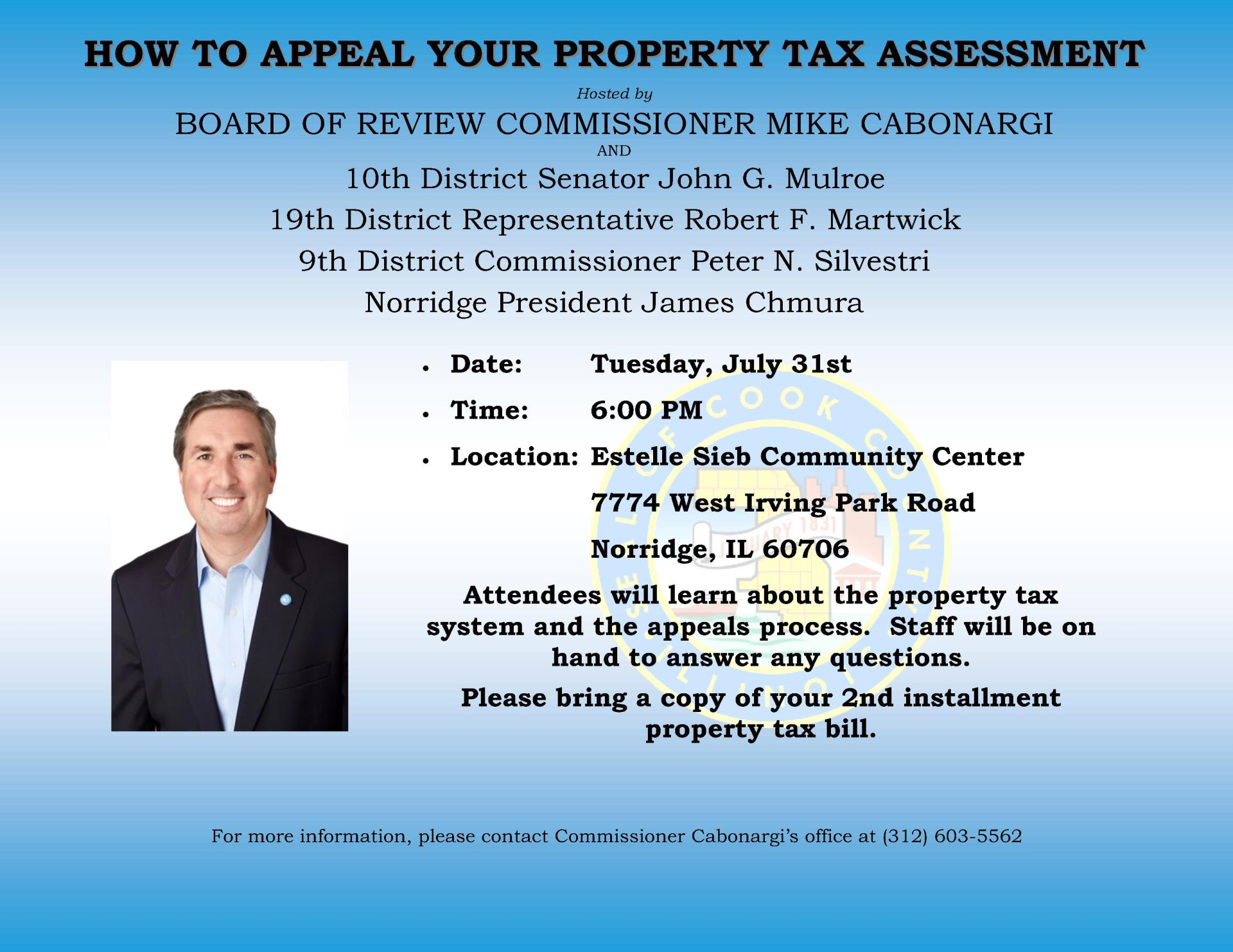 Norwood Park Tax Appeal