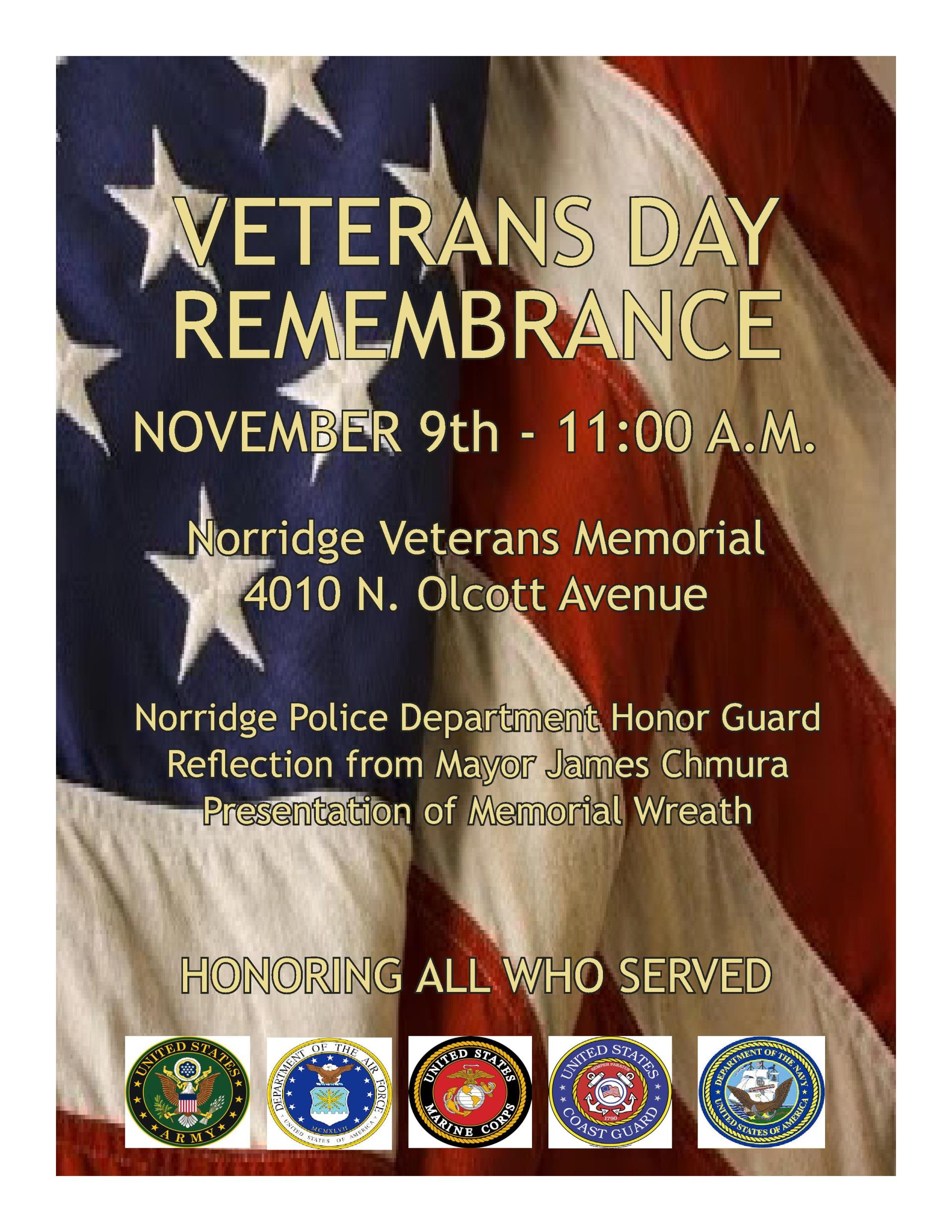 2018 Veterans Day Remembrance