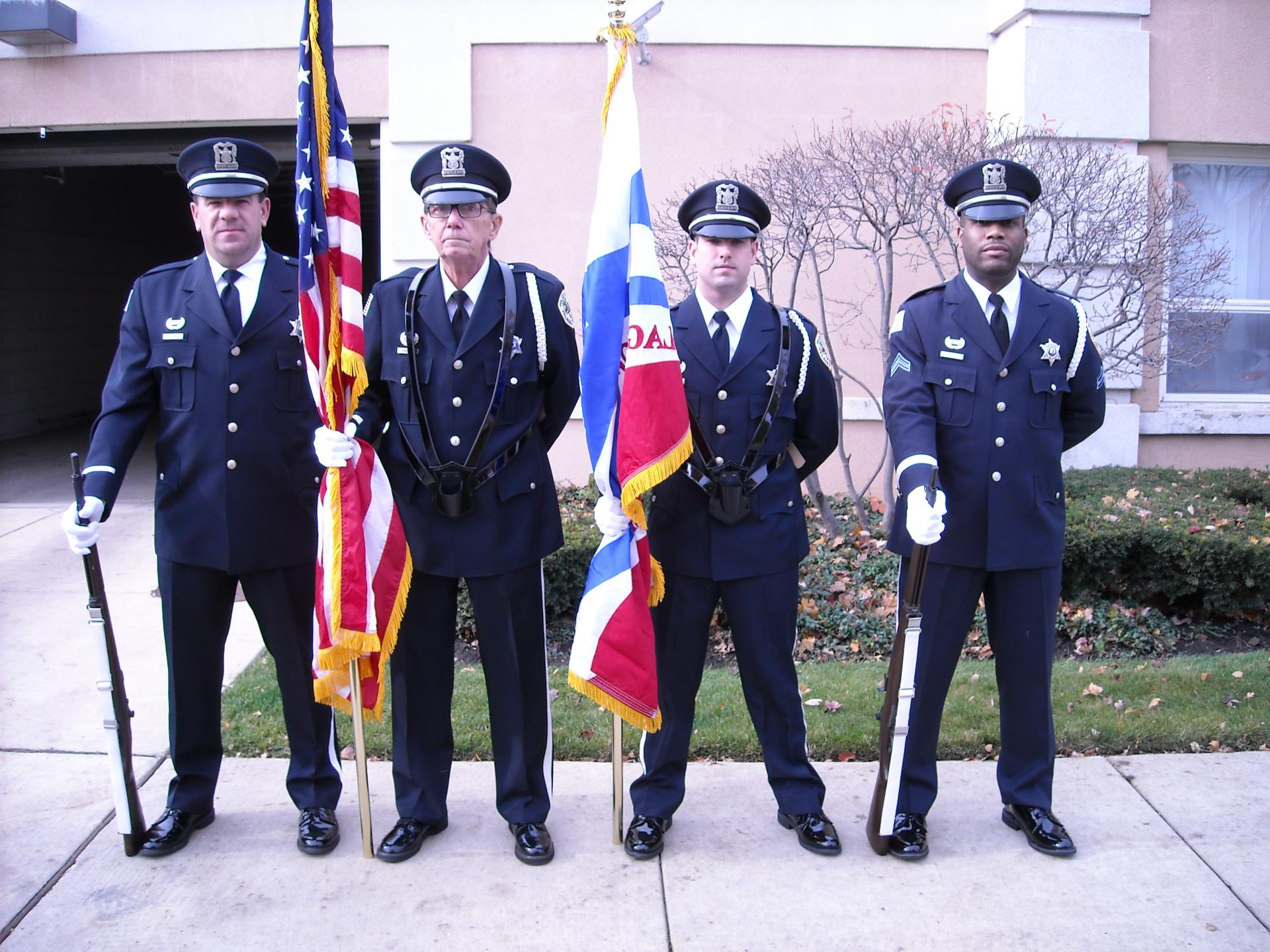 Left to Right:  Paul Malicki, Robert Crimmins, Nicholas Rice, Cpl. Vaughn Watts