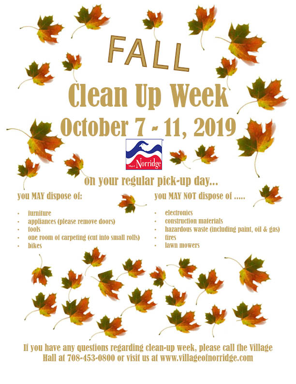 Fall Clean Up Week Flyer